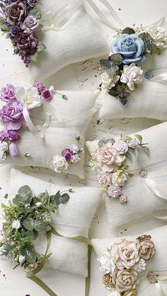 Wedding Ring Cushion, Wedding Pillows, Cushion Ring, Textured Wedding Cakes, Bridesmaid Corsage, Lavender Sachets, Wrist Corsage, Newborn Headbands, Ceremony Decorations