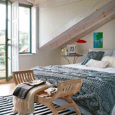 Converting an attic to a bedroom is a fabulous idea to make the space more functional and useful. Description from onekindesign.com. I searched for this on bing.com/images