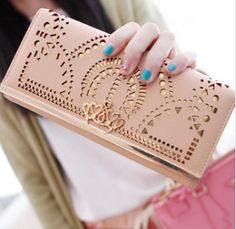 Long Women Leather wallet iphone 5 wallet iphone by chiclovemode, $26.00