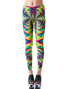 Lip Service Psychedelic Fractals Printed Leggings | Dolls Kill