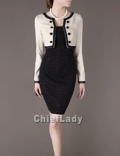 Faux Two-piece Dress Formal Attire for Women Business Casual Dresses Chic Elegant Spring Dress Chieflady Plus Size CT53 on Etsy, $115.00