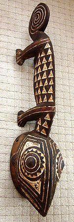 Chameleon Mask, Burkina Faso ~ hmmm - could be a doorknob.