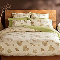 Walk in the Park organic cotton flannel sheets from Gaiam