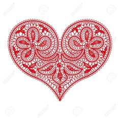 openwork lace red heart on a transparent background to the Valentine's. Bobbin Lace Patterns, Crochet Patterns, Wood Book, Lace Heart, Color Naranja, Collar Designs, Irish Lace, Lace Making, Lace Collar