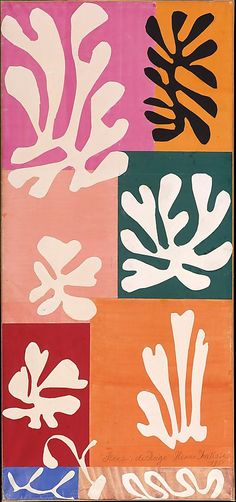Snow Flowers 1951  Henri Matisse / Watercolor and gouache on cut and pasted papers