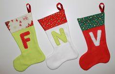 cocodrilova: calcetines navideños personalizados #navidad #christmas #decoracion #calcetin #chimenea #handmade