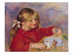 Claude Renoir at Play, 1905 Giclee Print by Pierre-Auguste Renoir at Art.com