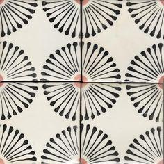 Joie de vivre was the inspiration for our Rue des Rosiers collection Tile Patterns, Textures Patterns, Print Patterns, Bathroom Floor Tiles, Kitchen Tiles, Tile Design, Pattern Design, Tabarka Tile, Br House