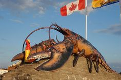 Funniest 'World's Largest' Roadside Attractions (PHOTOS) Lobster. Shediac, New Brunswick CanadaLobster. Shediac, New Brunswick Canada Yogi Bear Campground, Acadie, New Brunswick Canada, America Funny, East Coast Travel, Canadian Travel, Atlantic Canada, O Canada, Roadside Attractions