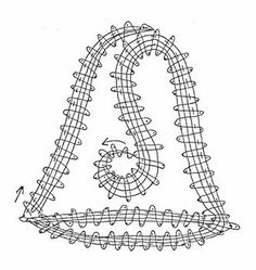 a06b11f92699858563e2a607bf042316 - Copie Teneriffe, Bobbin Lace Patterns, Needle Lace, Lace Making, Hobbies And Crafts, Knit Crochet, Projects To Try, Creations, Christmas Decorations