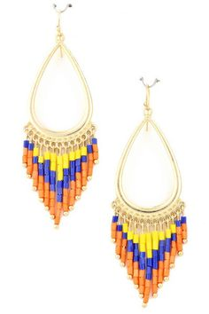 Indian Beaded Earrings From Gypsy Outfitters
