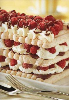 Authentic Chocolate & Raspberry Vacherin, ,