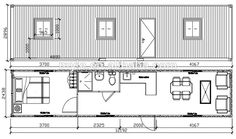one bedroom one bath shipping container home floor plan shipping