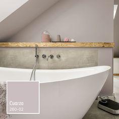 Un color neutro aportará a tu baño iluminación y un ambiente relajado, ¡Ideal para disfrutar de una ducha!
