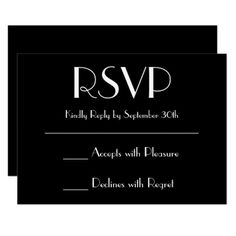 Create Your Own Black RSVP Card - wedding invitations diy cyo special idea personalize card