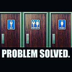 """This bathroom issue was resolved many many years in every Department store and places of businesses across the USA.  It's called """"Family Restroom"""".....""""Family style, unisex, or single-user restrooms (often called handicapped restrooms) offer flexibility: males or females, and one or more individuals (i.e. family members), of the same or opposite sex, can use them."""""""