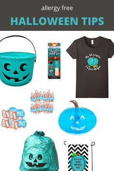 The teal pumpkin project how to have an allergy free Halloween. #halloween Fun Halloween Crafts, Diy Halloween Decorations, Diy Halloween Costumes, Holidays Halloween, Halloween Tips, Halloween Themes, Teal Pumpkin Project, Halloween Adventure, Happy Mom