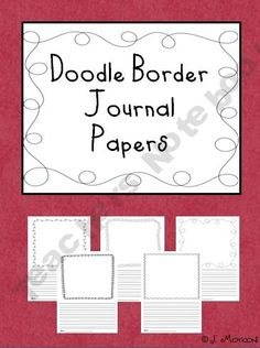 Doodle Border Journal Papers