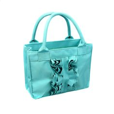 Turquoise Ruffle Scripture Tote | Totes & Bags on LDSBookstore.com (#BM-JAN)