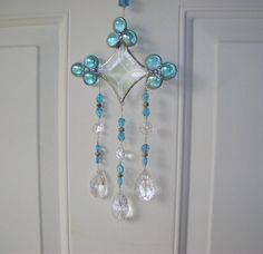 sun catcher wind chime beveled glass,