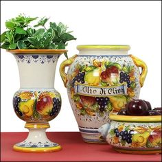 Italian Pottery, Collections, Vase, Wood, Lemon, Decorating, Home Decor, Pictures, Cute Things