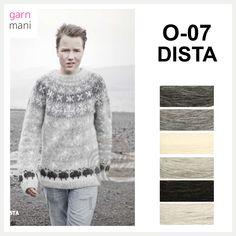 O-07 DISTA - Garnmani.no - Spesialist på islandsk garn Knitting, Blouse, Long Sleeve, Sleeves, Sweaters, Black, Tops, Women, Fashion