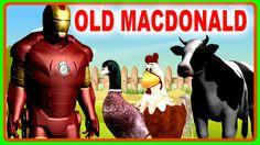 Popular Nursery Rhymes Videos for Children by Ironman Cartoons | Old Mac...