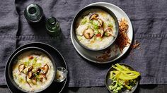 Chilli & garlic congee with shiitake   Chinese recipes   SBS Food