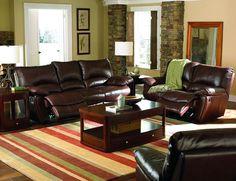 Clifford Casual Dark Brown Top Grain Leather Recliner Chair