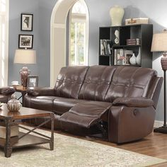 Holloway Motion Leather Reclining Sofa
