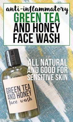 Green tea is amazing for your skin. That's what makes this all natural DIY face wash so great. It is perfect for people with sensitive skin, and it is naturally anti-inflammatory. And unlike a lot of homemade face washes, it actually has some foaming acti Homemade Face Wash, Homemade Skin Care, Diy Skin Care, Homemade Face Cleanser, Homemade Beauty Products, Green Tea And Honey, Sensitive Skin Care, Tips Belleza, Beauty Recipe