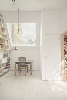 A small backyard writing shed in London. Designed by Weston Surman & Deane Architecture.