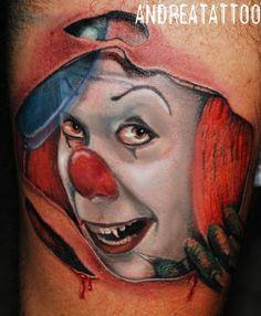 It, il pagliaccio assassino Realistic Tattoo