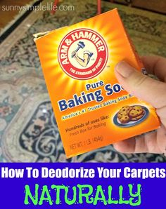 How To Deodorize Carpet Naturally, cleaning with baking soda