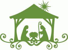 Silhouette Design Store - View Design #70762: simple nativity