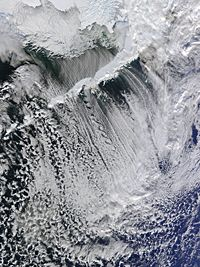 Cloud Streets off Aleutian Islands (click for larger version) January 2012