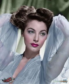 Colors for a Bygone Era Hollywood Icons, Hollywood Celebrities, Vintage Hollywood, Hollywood Stars, Hollywood Actresses, Classic Hollywood, Female Celebrities, Ava Gardner, Classic Actresses
