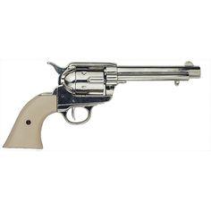 Frontier Replica Nickel Finish Revolver