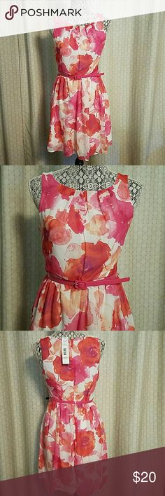 Pink Floral Dress Pink floral dress. Pretty and perfect for Valentine's Day! Brand new, never worn. -Offers Always Welcome!- MadisonLeigh Dresses