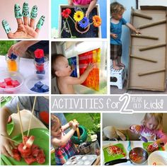 Two year olds are full of curiosity and they love a lot of things. Here are some of the best activities for them to try.