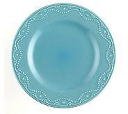Paula Deen Signature Bas Relief Whitaker DinnerPlates 4-Pack - K297564