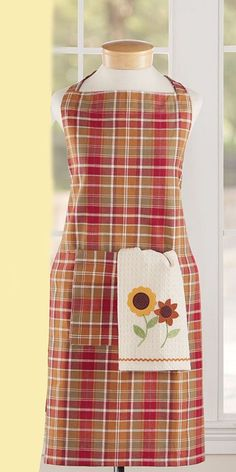 Autumn Plaid Kitchen Apron - Fall - Thanksgiving Apron  #Unbranded #Country