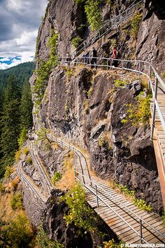 Beacon Rock Hiking Trail. Columbia River Gorge in S.W. Washington. Once On Top It Has The Most Amazing & Beautiful Views.