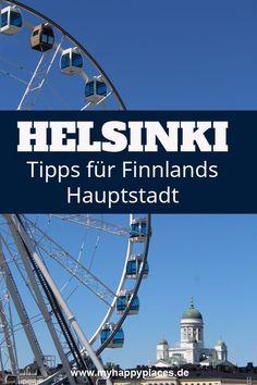 Das Meer ist in Helsinki fast überall, liegt Finnlands Hauptstadt doch direkt an der Ostsee. Auch sonst hat die Stadt einiges zu bieten – von coolen Museen und ungewöhnlichen Kirchen bis zu finnischen Tapas und natürlich Saunas. Helsinki, Reisen In Europa, Homeland, Ferris Wheel, Amsterdam, Stuff To Do, Fair Grounds, Saunas, Kirchen