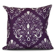 E by Design Veranda Outdoor Throw Pillow Purple - O5PG796PP2-20