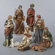 """$79.99-$99.99 9-Piece Classical Porcelain Christmas Nativity Figure Set - 9-Piece Christmas Nativity Set Item #J1213  This beautifully crafted classical Nativity set features understated shades of browns, reds, blues and greens 9-piece set includes: stable boy, Joseph, the Three Wise Men, lamb, Baby Jesus, Mary and a calf Approximate dimensions of tallest piece: 9""""H Material(s): porcelain http://www.amazon.com/dp/B00595422I/?tag=pin2wine-20"""