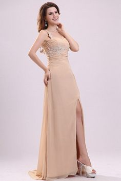 A-line Floor-length Champagne Zipper Natural Evening Formal Dresses Cheap Evening Dresses, Cheap Prom Dresses, Homecoming Dresses, Nice Dresses, Flower Girl Dresses, Bridesmaid Dresses, Formal Dresses, Prom Gowns, Sweetheart Prom Dress