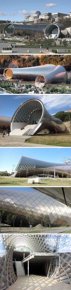 Tbilisi music theatre concert hall by Fuksas Studio.