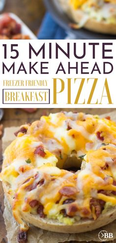 This Easy Breakfast Pizza Bagel recipe is such an quick and easy recipe for breakfast! You can do it as an easy make ahead breakfast or freeze it. We make it on bagels ( which makes it 9 points on wei Frozen Breakfast, Breakfast Bagel, Homemade Breakfast, Quick And Easy Breakfast, Make Ahead Breakfast, Breakfast Dishes, Quick Easy Meals, Breakfast Pizza Recipes, Brunch Recipes