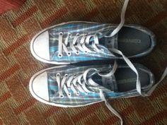 Gray Plaid Converse